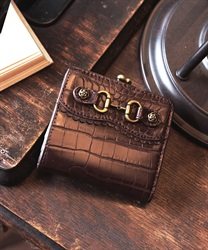 Croco wallet(Brown-M)