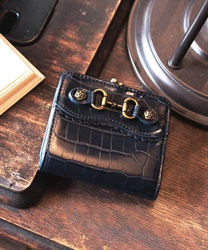 Croco wallet(Navy-M)