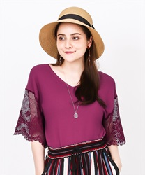 2 way sleeve lace knit