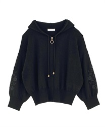 Knit cardigan_AS143X01(Black-Free)