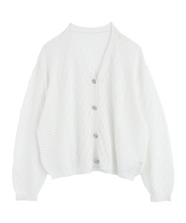 【2Buy20%OFF】Openwork Loose Cardigan(White-Free)