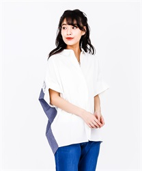 Back Stripe Shirt Pullover(White-Free)
