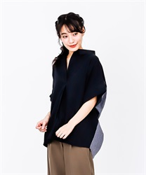 Back Stripe Shirt Pullover(Black-Free)