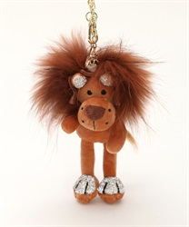 Glitter Lion Charm(Brown-M)