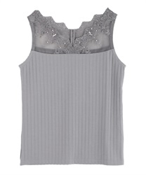Delicate Lace Tank(Grey-Free)
