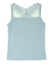 Delicate Lace Tank(Green-Free)