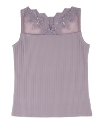 Delicate Lace Tank(Lavender-Free)
