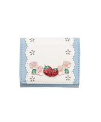 Sweet Strawberry Trifold Wallet(Saxe blue-M)
