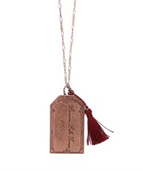 BOOKMARKS necklace(Bronze-M)