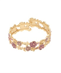 Bracelet Coverd wit Jwel Ivy and Roses(Gold-M)
