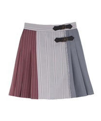 【MAX70%OFF】Patchwork Design Skirt pants(Grey-Free)