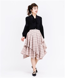 Frilled ilehem skirt(Pale pink-Free)