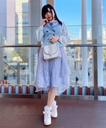 Lace × Tulle Asymmetric Skirt