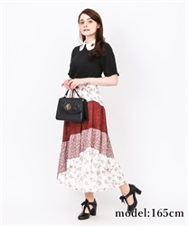 【2Buy20%OFF】Flowery Escargot Skirt(Red-Free)