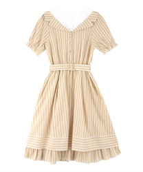 Stripe Layered Dress(Yellow-Free)