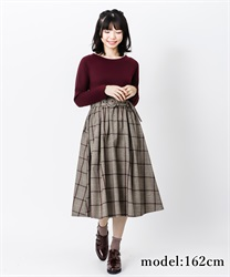Check pattern docking one-piece(Wine-Free)
