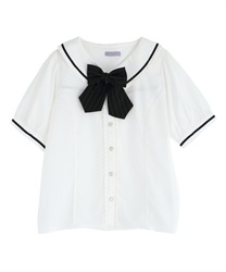 Classic College Blouse(White-Free)