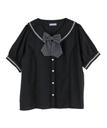 Classic College Blouse(Black-Free)