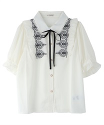 Ornament Embroidery Blouse(Ecru-Free)