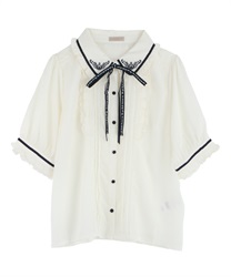 Message Ribbon Blouse(Ecru-Free)