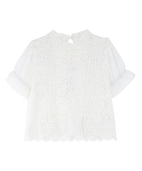 Lace blouse(White-Free)