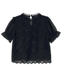 Lace blouse(Black-Free)