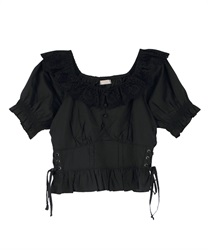Cotton Lace Blouse(Black-Free)