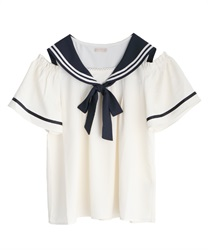Sailor open shoulder blouse(Ecru-Free)