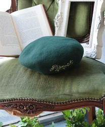 【Global Price】Logo embroidery beret(Blue green-M)