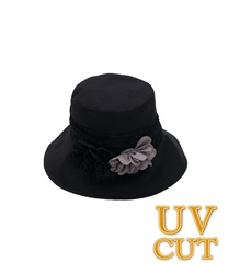 UV Hat with Corsage(Black-M)