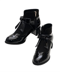 Rose Heels Ankle Boots(Black-S)