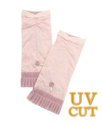 Rose Chiffon UV Gloves(Pale pink-M)