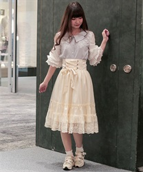 Corset-style skirt(Beige-Free)