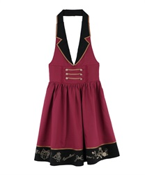 Napoleon Design Halterneck Dress(Wine-Free)