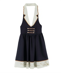 Napoleon Design Halterneck Dress(Navy-Free)