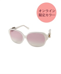 Flower Sunglasses with Swarovski Decorations(White-M)