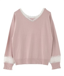 2-way washable knit(Pale pink-Free)