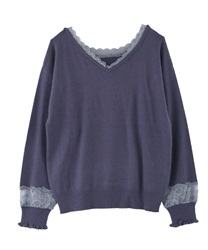 2-way washable knit(Blue-Free)