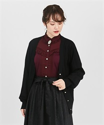 Middle length long cardigan(Black-Free)