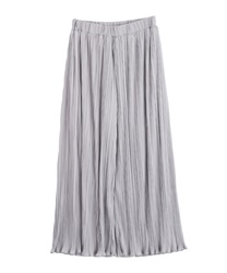Satin pleated pants(Grey-Free)