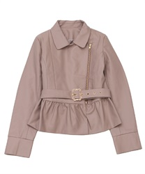 "Fril Rider's Jacket with ""Removable Belt""(Pale pink-Free)"