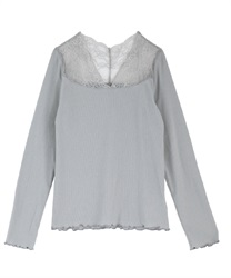 Lace used rib inner(Grey-Free)