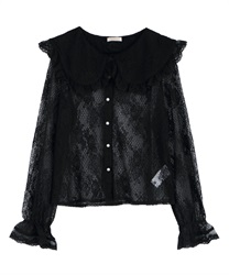 Lacy Haori Blouse(Black-Free)