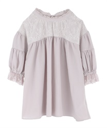 Gathering volume sleeve blouse(Pale pink-Free)