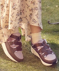 Belt design sneakers(Brown-S)