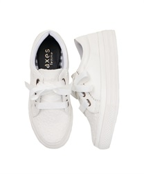 【2Buy20%OFF】Lace Sneakers(White-S)