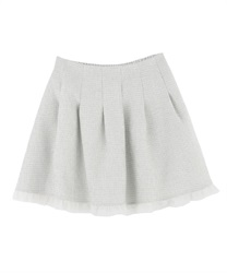 【MAX70%OFF】Tweed tulle skirt pants