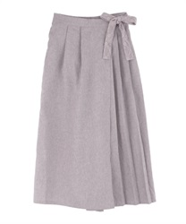 Wrap-style Wide Pants(Lavender-Free)