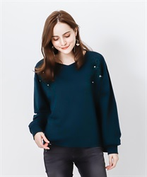 Soild lace pullover