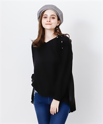 Back schoen with lace pullover(Black-Free)